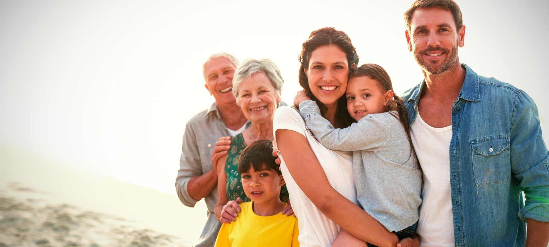 multi generational family covered by life insurance